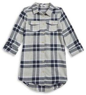 Dex Plaid Cotton Shirtdress