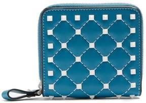 Valentino Rockstud Spike zip-around leather wallet