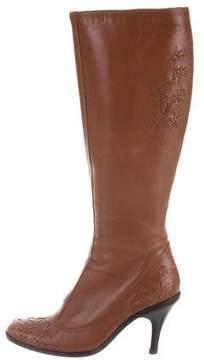 Dries Van Noten Embroidered Knee-High Boots
