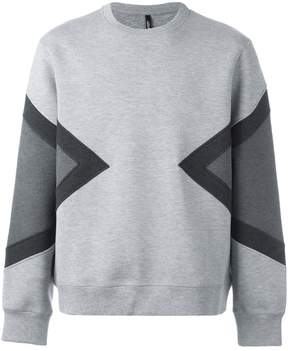 Neil Barrett geometric printed sweatshirt