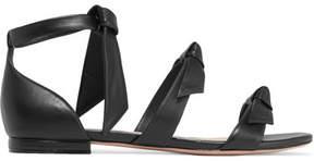 Alexandre Birman Lolita Bow-embellished Leather Sandals - Black