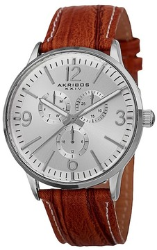 Akribos XXIV Men's Precise Quartz Multifunction Strap Watch