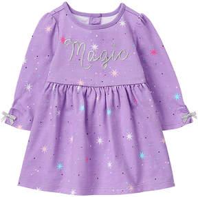 Gymboree Purple Stars 'Magic' A-Line Dress & Diaper Cover - Infant