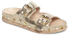 Stuart Weitzman Women's Sandbar Studded Slide Sandal
