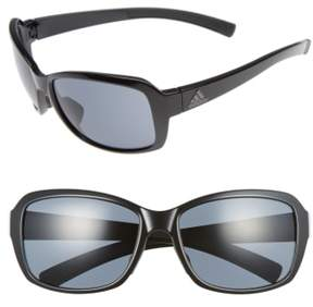 Women's Adidas Baboa 58Mm Sunglasses - Shiny Black/ Grey