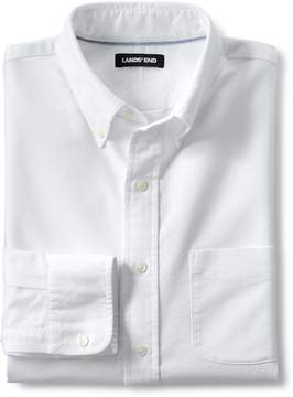 Lands' End Lands'end Men's Tall Traditional Fit Buttondown Solid Sail Rigger Oxford Shirt