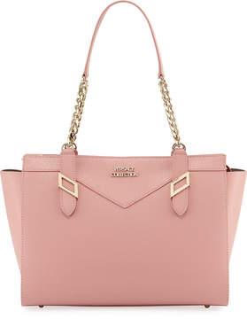 Versace Saffiano Leather Chain Shoulder Bag, Pink