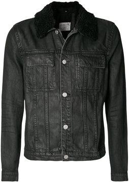 Helmut Lang sherpa collar trucker jacket
