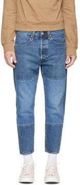Levi's Levis Indigo Pieced Drop Crop Jeans