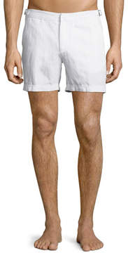 Orlebar Brown Cavrin Solid Linen Shorts, White