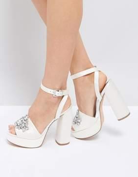 Asos HOLLYWOOD Bridal Embellished Platform Sandals