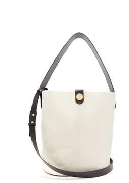 Sophie Hulme Swing Large Calf Hair Bag - Womens - White Black