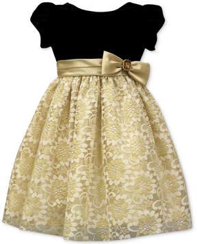 Jayne Copeland Velvet-Bodice Lace Gown, Little Girls (4-6X)