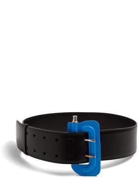 Balenciaga Clamp-buckle leather belt
