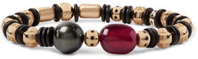 Luis Morais Gold, Ruby And Pearl Bead Bracelet