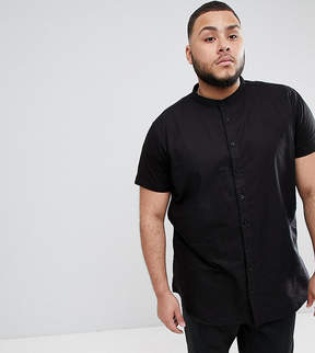 SikSilk PLUS Muscle Shirt In Black With Jersey Sleeves Exclusive to ASOS