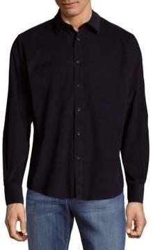 Saks Fifth Avenue BLACK Pinwale Cord Cotton Button-Down Shirt