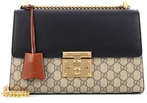 Gucci Padlock GG Supreme Medium leather and coated canvas shoulder bag