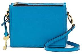 Fossil Campbell Leather Crossbody Bag \n