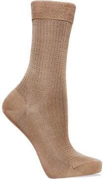 Falke No.2 Pointelle Silk-blend Socks - Taupe