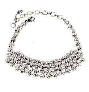 Amrita Singh Silvertone Kinari Choker Necklace