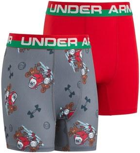 Under Armour Boys 6-20 Santa 2-Pack Boxer Briefs