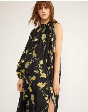 Cynthia Rowley | Offshore One Sleeve Dress | Xs | Gold poppy