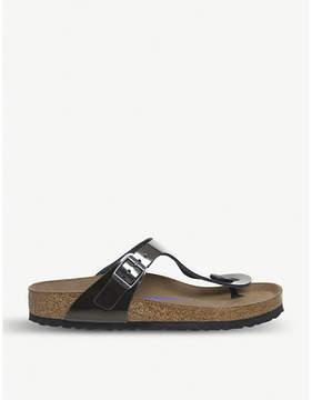 Birkenstock Gizeh open-toe patent-leather sandals