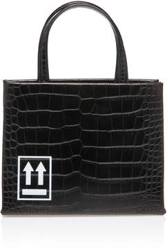 Off-White Mini Embossed Leather Tote