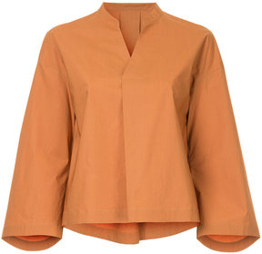 EN ROUTE flared sleeve blouse