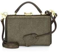 Mark Cross Grace Metallic Leather Mini Box Bag