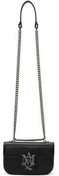 Alexander McQueen Black Small Insignia Chain Satchel