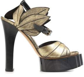 Vivienne Westwood Women's Black/gold Leather Sandals.