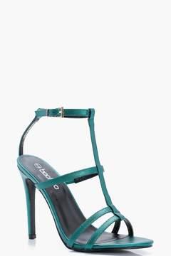 boohoo Caged Strappy Heels