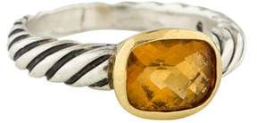 David Yurman Citrine Noblesse Cable Ring
