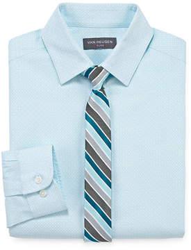 Van Heusen Flex Boys Shirt + Tie Set 4-20 - Reg