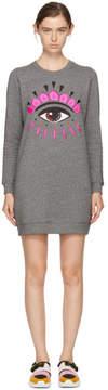 Kenzo Grey Eye Sweatshirt Dress