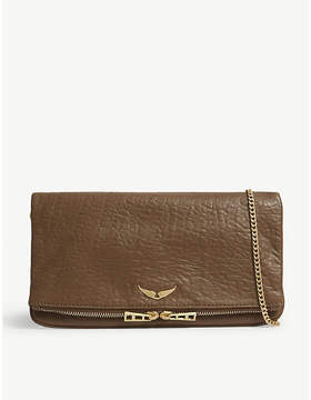 Zadig & Voltaire Leather bubble fold-out clutch