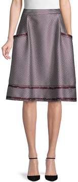 Carolina Herrera Women's Cotton A-Line Skirt