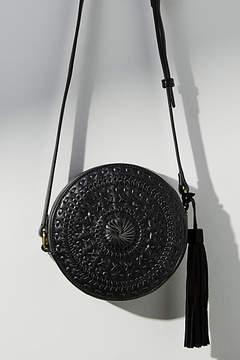 Anthropologie Woven Mini Circle Bag