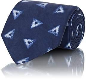 Ralph Lauren Purple Label Men's Geometric-Print Silk Necktie