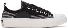 McQ Black Plimsoll Sneakers