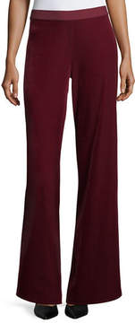 Joan Vass Velvet Wide-Leg Pants