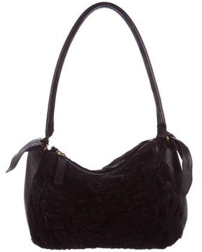 Giuliana Teso Leather-Trimmed Broadtail Pochette