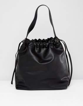 MANGO Drawstring Bucket Bag