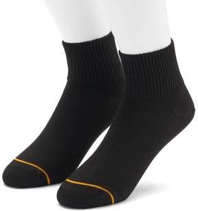 Gold Toe GOLDTOE Men's GOLDTOE 2-pack Non-Binding Rayon from Bamboo Quarter Socks