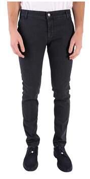 Entre Amis Men's Black Cotton Pants.