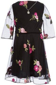 I.N. Girl Little Girls 4-6X Embroidered Mesh Dress