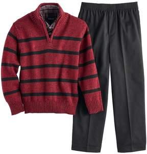 Van Heusen Boys 4-7 Striped Sweater, Shirt & Pants Set