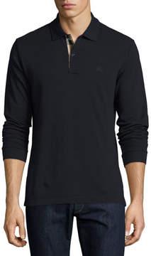 Burberry Long-Sleeve Oxford Polo Shirt
